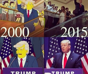 the simpsons, donald trump, and trump image