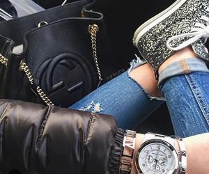 bag, fashion, and wristwatch image