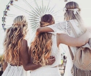 coachella, hair, and friends image