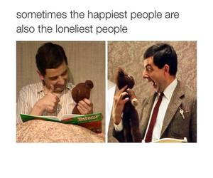 happy, lonely, and mr bean image
