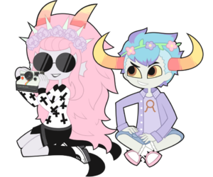 homestuck and pastel goth image