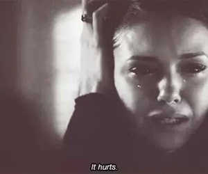 hurt, sad, and cry image