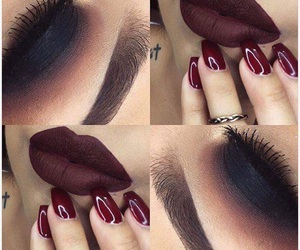 and, black, and lips image
