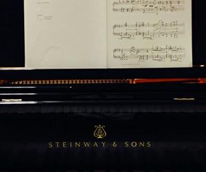 piano, music, and steinway image