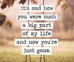 sad, gone, and life image