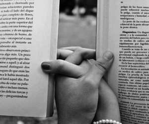 hands, reading, and love image