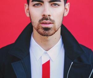Joe Jonas, red, and jonas brothers image