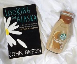 book, starbucks, and john green image