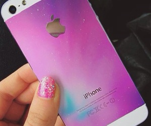 iphone, galaxy, and pink image