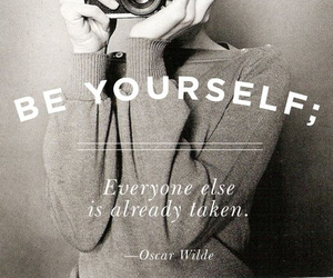 quote, be yourself, and photo image