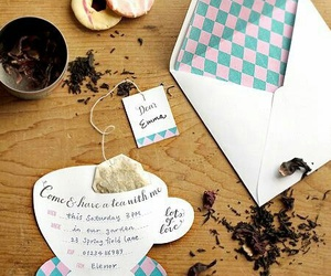 tea and invitation image