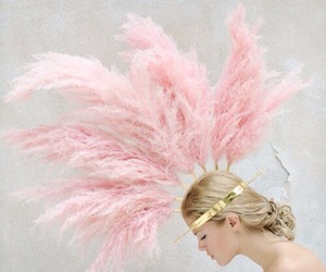 feathers, beauty, and girl image