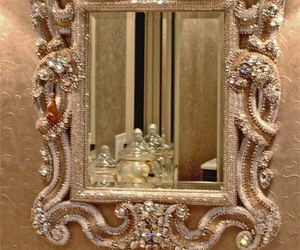 mirror, luxury, and diamond image