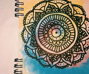 draw, watercolor, and zentagle art image