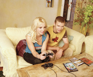britney spears, justin timberlake, and 2001 image