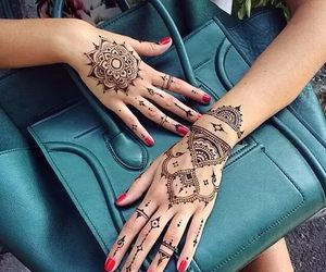 henna, bag, and hands image