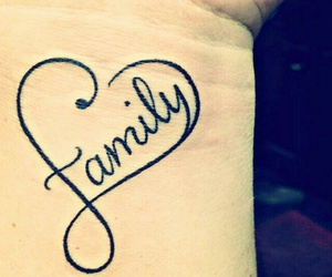 family, tattoo, and heart image
