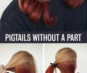 hair, tutorial, and diy image