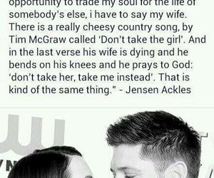 Jensen Ackles, supernatural, and love image