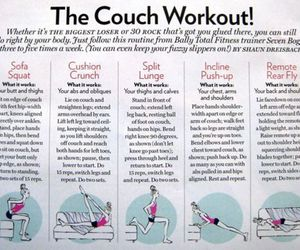 workout, fitness, and couch image