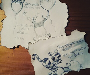 drawing, love, and pooh image