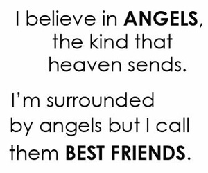 angel, best friends, and friends image