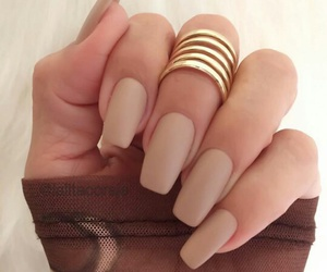 nails, Nude, and nail art image