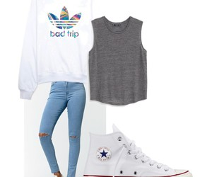 converse, fahion, and jeans image