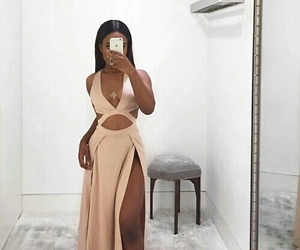 dress, elegant, and style image