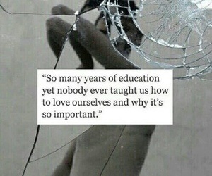quotes, education, and sad image