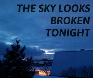 broken, evening, and mine image