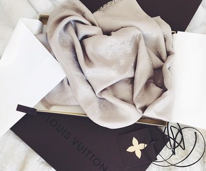 luxury, Louis Vuitton, and scarf image