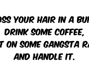 coffee, drink, and hair image