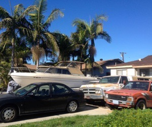 american, beach, and driveway image