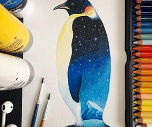 animal, dibujo, and galaxy image