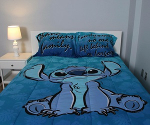 bed, love, and blue image