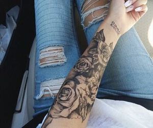 beautiful, jeans, and rosas image