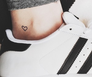 tattoo, heart, and adidas image