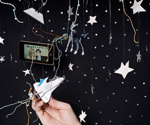 space, stars, and string image