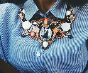 fashion, necklace, and girl image