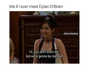 dylan o'brien, girl, and teen wolf image