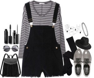 fashion, black, and gray image