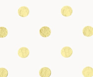 gold, kate spade, and polka dots image