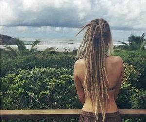 nature, dreads, and blonde image