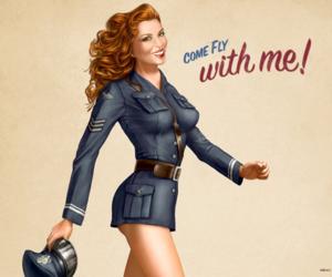 aviator, girl, and fly image