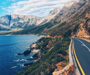 mountain, sea, and nature image