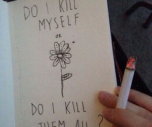 cigarette, grunge, and kill image