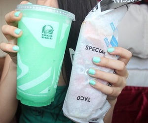 food, taco bell, and drink image