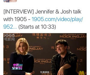 the hunger games, Jennifer Lawrence, and josh hutcherson image
