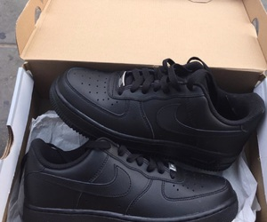 black, nike air force, and nike image